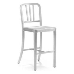 Zuo Modern - Zuo Modern Bistro Aluminum Counter Stool - This chair is made from light weight aluminum with a brushed finish.