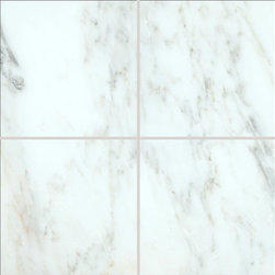 All Marble Tiles - Arabescato Carrara 6x6 Honed Marble Floor and Wall Tile - Looking for a great Italian theme in your living room, bathroom or kitchen? Your search ends here with high end Arabescato Marble Collection. This collection has unique looking tiles made of white marble and attractive grey veins running through the white surface. These tiles are highly recommended in a classic or modern styled home because they remain timeless in demand.