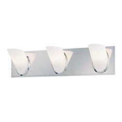 George Kovacs - George Kovacs P5943-077 Angle 3 Light Bathroom Wall Vanity - - Chrome Finish