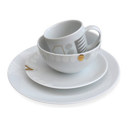 White Noise 16-piece Dinnerware Set by Alyson Fox