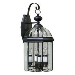 Quorum International - Quorum International 733-4-15 Black Wellsley Traditional / Classic 4 - Wellsley OutdoorBulbs: (4) 40W CandelabraUL Wet