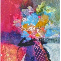 """Abstract Flowers"" (Original) By Vicki Serva - What If We Just Play And Have Fun With Color."