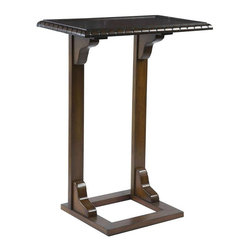 Bernards - Bernards Wood Snack Table in Pecan Finish - Bernards - End Tables - 7930 - A pecan finish and elegantly carved snack table will give any sectional that extra place to set your drink or snack. Its lines and structure speak of craftsmanship and quality.