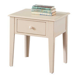 Steve Silver Furniture - Steve Silver Eva 1-Drawer End Table in White - Smaller square version of the clean fresh looking cocktail table; holds one drawer.