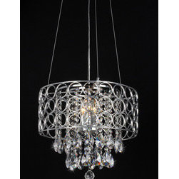 WAREHOUSE OF TIFFANY - Antoinette Crystal-Chrome Chandelier - • Antoinette Crystal-Chrome Chandelier