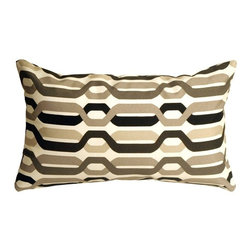 Pillow Decor - Pillow Decor - Waverly New Twist Caviar 12 x 20 Outdoor Pillow - The Fishbowl Aquarium Outdoor Throw Pillow is a versatile outdoor pillow. This pillow can tie in with a variety of color schemes. This makes the pillow even more flexible for use in sunrooms, gardens, patios, poolside, beachfront or boats. Made from Waverly Sun N Shade Indoor/Outdoor fabric, this throw pillow resists mold, mildew, soil and stains and is easily cleaned with a mild soap and water solution.