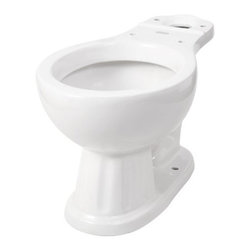 PREMIER - Sonoma Round Toilet Bowl, White - Choose the classic round front design of a Premier Sonoma toilet bowl to match your Sonoma toilet tank (Premier 582606, sold separately). Premier two-piece toilets use siphon jet flushing for powerful single-flush performance and feature a 2-inch fully glazed trapway. This vitreous china toilet bowl includes a three-year limited warranty. The toilet bowl and tank are sold separately and are available in white to match any type of bathroom decor.