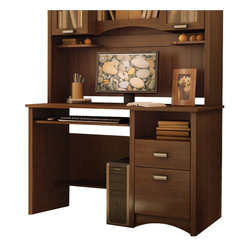 South Shore - South Shore Glasgow Wood Computer Desk in Sumptuous Cherry - South Shore - Computer Desks - 7356070 - This charming Glasgow collection offers a nice sophisticated look with lots of character. The South Shore Furniture Glasgow Computer Desk provides you with a large working surface and convenient storage space to keep everything well organized.