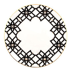 Truman Dinner Plate - Inspired by Truman Capote's Black and White Ball at the Plaza in 1966, AKA the party of the century, this bold dinner plate helps set the stage--and the table--for a sophisticated statement.