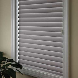 Comfortex - Comfortex Shangri-La 2-inch Soft Horizontal Shades: Moonlight Room Darkening - Treat your windows to something new with versatile and beautiful Shangri-La Sheer Horizontal Shadings.