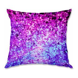 DiaNoche Designs - Pillow Woven Poplin - Julia Di Sano Radiant Orchid Galaxy - Toss this decorative pillow on any bed, sofa or chair, and add personality to your chic and stylish decor. Lay your head against your new art and relax! Made of woven Poly-Poplin.  Includes a cushy supportive pillow insert, zipped inside. Dye Sublimation printing adheres the ink to the material for long life and durability. Double Sided Print, Machine Washable, Product may vary slightly from image.