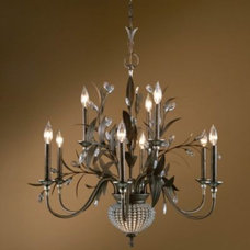 chandeliers Cristal de Lisbon 9 Light Chandelier by Uttermost