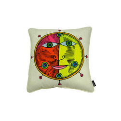 Lava - Moon Light 18 x 18 Pillow (Indoor/Outdoor) - 100% polyester cover and fill. Made in USA. Spot clean only. Safe for use indoors or out.