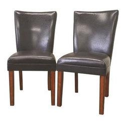 Wholesale Interiors - Baxton Studio Sofi Dark Brown Dining Chair Set of 2 - 2272 - Contemporary kitchen cart