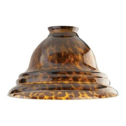 Westinghouse - Westinghouse 5 in. x 7-1/2 in. Tortoise Pendant Shade 8137500 - Shop for Lighting & Fans at The Home Depot. This Westinghouse Lighting 5 in. x 7-1/2 in. Tortoise Pendant Shade makes a striking enhancement to your decor. The wide, tiered-edge glass shade features the universally admired tortoiseshell pattern. Westinghouse's customizable products inspire creativity for quick and easy home upgrades. Choose your shade, select your fixture and finish, and enjoy your new custom lighting. Because it features a standard 2-1/4 in. fitter, this shade will work with a variety of lighting configurations--from mini-pendants to wall fixtures. Use it as a replacement shade for wall fixtures, fan fixtures, or pedestal lamps. Thanks to its wide design, this shade works especially well with a pendant fixture hanging in a dining room, kitchen, or bedroom. Wherever you place it, you will enjoy the shade's classic style and pattern. The shade is 5 in. high x 7-1/2 in. in diameter. The handcrafted nature of glassware produces minor differences in design and sizing. Subtle variations will occur from piece to piece, adding to each one's unique qualities. Measurements may vary slightly.
