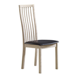 Skovby - Dining Chair Set SM 95 - You'll be sure to sit tall in this stately seat. With strong modern lines and a high straight back that's slightly curved for comfort, this dining chair defines modern elegance.