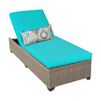 TKC - Hampton Chaise Outdoor Wicker Patio Furniture 2 for 1 Cover Set - Features: