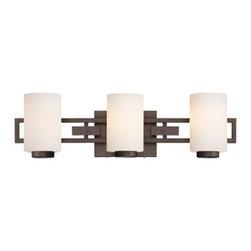 Designer Fountain - Del Ray 3-Light Bath Bar - 3-Light Bath Bar