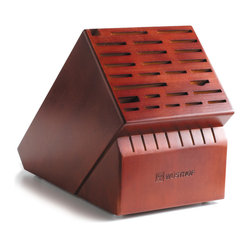Wusthof - Wusthof 35-Slot Grand, Cherry Wood - The Wusthof 35 slot storage block holds up to 9 cooks knives handling two 10-inch cooks knives , 8 steak knives and will store a shear, fork, and cleaver. Safely store your knives in a safe and convenient storage block.
