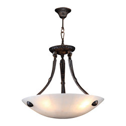 Worldwide Lighting - W83808F16 Pompeii Bowl Pendant 16 In. - 4 Natural Quartz Light in Flemish Brass - This 4-light Pompeii Collection bowl pendant in Flemish Brass finish and Natural Quartz is a stunning addition to your home and is dressed with our 30% PbO Premier Crystal glass. Worldwide Lighting Corporation is a premier designer manufacturer and direct importer of fine quality chandeliers, surface mounts, and sconces for your home at a reasonable price. You will find unmatched quality and artistry in every luminaire we manufacture.