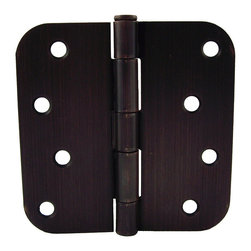 GlideRite - GlideRite 4-inch x 5/8-inch Radius Oil Rubbed Bronze Door Hinges (Pack of 12) - Update your doors with this 12-pack of interior residential full mortise steel door hinges from GlideRite hardware.