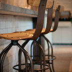 Stools & Chairs - The Jamison barstool is made from reclaimed French oak wine barrels and hand forged industrial steel.