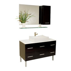 Fresca Distante Modern Bathroom Vanity w/Cultured Marble Countertop