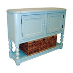 EuroLux Home - New Console Chest of Drawers Blue Painted - Product Details