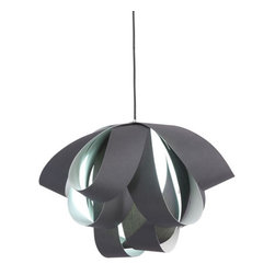 ZUO PURE - Fringe Ceiling Lamp Black - Supple strips of fabric loop endlessly creating the Fringe ceiling lamp. Comes with one 13W bulb and is UL approved. The height is fully adjustable.