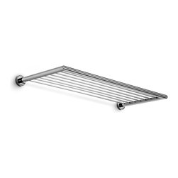 WS Bath Collections - Baketo Polished Chrome Towel Rack - Baketo by WS Bath Collections Towel Rack in Polished Chrome, Solid Brass Base, Made in Italy