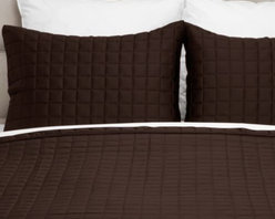 Z Gallerie - West Street Quilted Coverlet Set - Supremely soft, and available in five distinct hues, our chocolate West Street Quilted Coverlet Set elevates the comforts of your bedroom.  Create a fresh display to rest upon using the versatility of our West Street Bedding.  Display alone for a refined look, or combine with complementary pieces for stunning layered look. Each set is sold complete with a quilt and two matching shams.