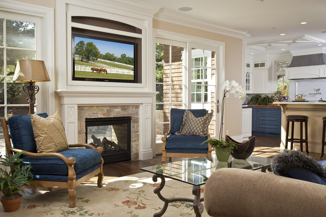 Traditional Family Room by Brownhouse Design, Los Altos, CA