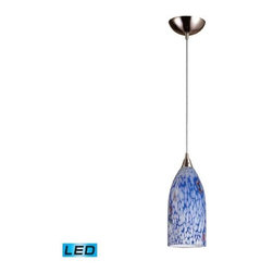Elk Lighting - Elk Lighting 502-1BL-LED Verona 1-LED Light Pendant with Starburst Blue - Elk products are highly detailed and meticulously finished by some of the best craftsmen in the business.