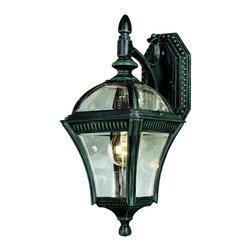 Joshua Marshal - One Light Verde Green Clear Beveled Edges Curved Glass Roof Glass Light - One Light Verde Green Clear Beveled Edges Curved Glass Roof Glass Light
