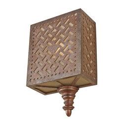 Murray Feiss - Murray Feiss WB1609 Kandira 1 Light Reversible ADA Flush Mount Wall Sconce - Features: