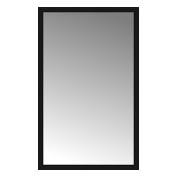 """Posters 2 Prints, LLC - 46"""" x 74"""" Soho Black Custom Framed Mirror - 46"""" x 74"""" Custom Framed Mirror made by Posters 2 Prints. Standard glass with unrivaled selection of crafted mirror frames.  Protected with category II safety backing to keep glass fragments together should the mirror be accidentally broken.  Safe arrival guaranteed.  Made in the United States of America"""