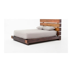 Four Hands - Iggy Bed, Queen - If a stylish night's sleep seems like a distant stop on a local, big-box train, this bed gives you an express to handmade dreams. Made from sustainably harvested and reclaimed woods, the chunky, rail-like frame, seamless joints and warm stain gleam — and provide a one-way ticket to sweet dreams.