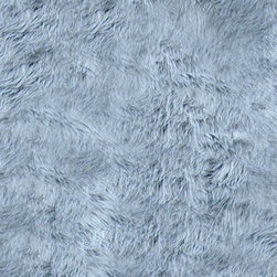 FurAccents - Fur Accents Classic Rectangle Area Rug Premium Shag Faux Fur, Silver Gray, 2'x3' - Plush sheepskin design. Made from 100% animal free and eco friendly fibers. Perfect for any room in the house. Skilfully made and tastefully lined with real parchment ultra suede. Luxury, quality and unique style for the most discriminating designer/decorator.