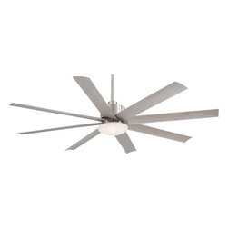 "Minka Aire - Minka Aire F888-BNW Slipstream Brushed Nickel Wet 65"" Ceiling Fan with Remote - Features Energy Star Rated DC Motor"