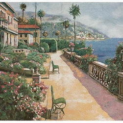 Manual - Bella Amalfi Woven Tapestry Wall Hanging 70 Inch x 50 Inch Italy - This woven tapestry wall hanging measures 70 inches wide, 50 inches long, and depicts a coastal street in the town of Amalfi in Salerno, Italy. It makes a great gift.