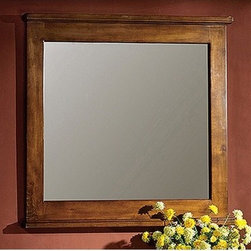 """Legion Furniture - 48"""" Vanity Mirror in Light Walnut - Features: -Vanity mirror. Specifications: -Manufacturer provides one year warranty on parts. -Overall dimensions : 33"""" H x 48"""" W x 2"""" D."""