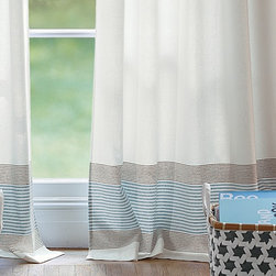 """Serena & Lily - Yacht Stripe Window Panel  Ivory - These Yacht Stripe window panels are ideal for my """"someday"""" dream cottage. They're nautical, crisp and clearly have fun with the beachy theme without going overboard!"""