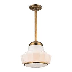 Hudson Valley Lighting - Hudson Valley Lighting 3809-AGB Odessa Aged Brass Pendant - Hudson Valley Lighting 3809-AGB Odessa Aged Brass Pendant