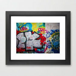 Berlingeist Art Print - Our Berlin Wall graffiti mini print is perfectly suited to small spaces that need to be filled in your vibrant, Berlin-inspired room. The colorful print is perfect for the modern industrial theme you're craving. Ready to frame, this gallery-quality giclée print is made to last on archival paper.
