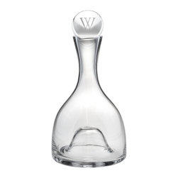 None - Lenox Aerating Wine Decanter with Personalized Stopper - Make your guests feel special at your next dinner party by entertaining with this aerating wine decanter. This elegant 48-ounce decanter features a beautiful monogrammed crystal stopper and a dome that helps with both aerating the wine and maneuvering.