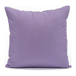 "Blooming Home Decor - Solid Lavender Accent / Throw Pillow Cover, 16""x16"" - Available in 16""x16"", 18""x18"", 20""x20"", 24""x24"", 26""x26"", 12""x20"")"