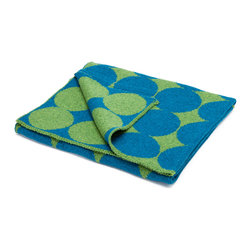 """in2green - Eco Baby Dots Reversible Throw, Avocado/Teal - Our throws are all knit in the USA with a blend of recycled cotton yarn (74% recycled cotton yarn, 24% acrylic, 2% other), generously sized at 50"""" x 60"""" and machine wash and dry...how easy is that!"""