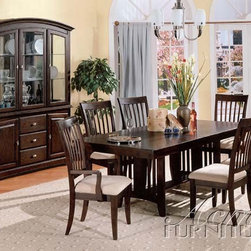 Acme Furniture - Reims 7 Piece Dining Set - 4790-7set - Includes Table, 2 Arm Chairs and 4 Side Chairs