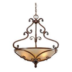 Golden Lighting - Golden Lighting 4002-3P RSB Pendant Bowl - Transitional style works well in multiple settings