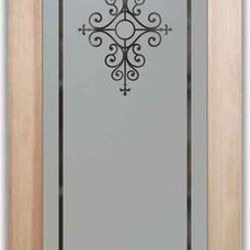 Eclectic Interior Doors by Sans Soucie Art Glass